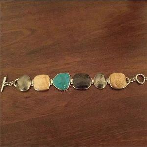 Vintage Silpada Turquoise Sterling Silver Bracelet